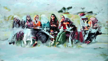 Art-work by Merih Demirkol (Ispartali Kadinlar (Women of Isparta)